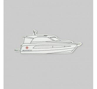 Pack of 5 motor boat stickers