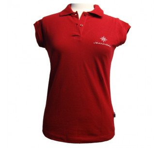 Woman polo red